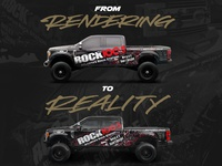 Liberated 4x4 - Rock 100.5 F-350 - Rendering to Reality