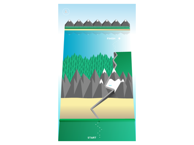 Birdseye View ios game map mountains isometric mobile native