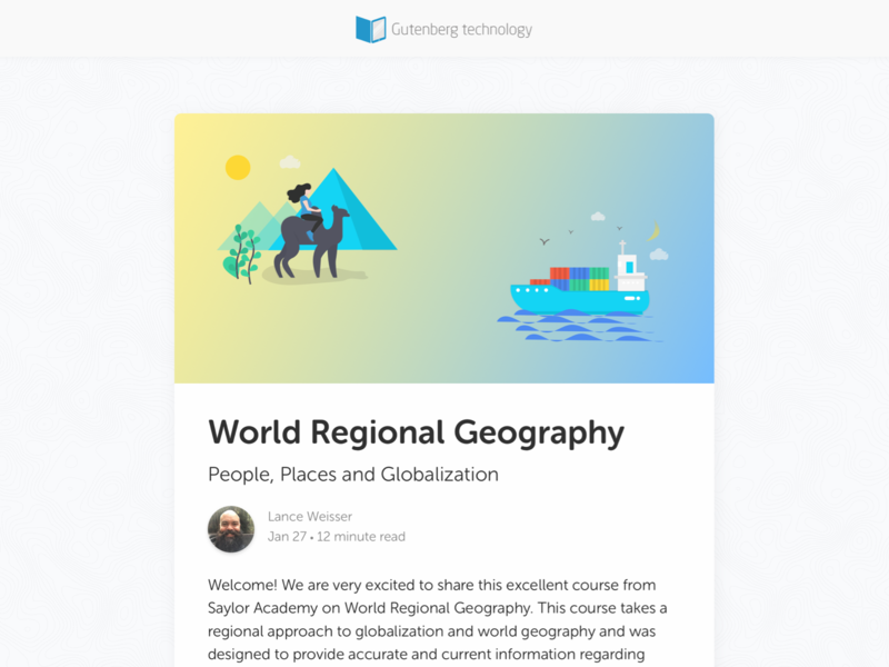 Geography course design