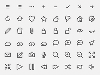 hicons – free outline icons