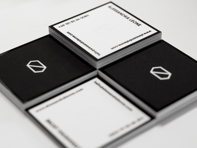 Squared b/w business cards raised spotgloss business cards blackwhite bw minimal simple alessandraleone squared raised spotgloss