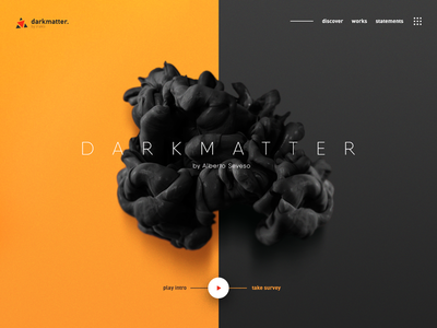 Darkmatter god atmosphere cosmos brain ux ui abstract split dark matter
