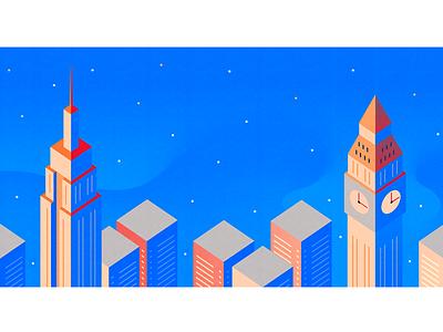 NYC & London big ben empire state