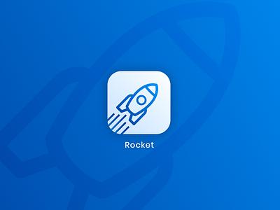DailyUI 005 – App Icon app icon rocket ui design 005 dailyui