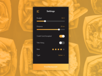 DailyUI 007 – Settings