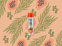 Papaya Pure Silk: Social Post Concept