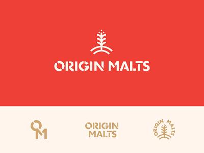 Origin Malts Final Logo Suite gold cream icons by alfredo logotype logo symbols icons logos malting beer brewing origin brew originals malt