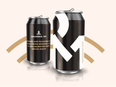 Origin Malts Beer Can