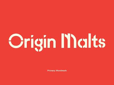 Origin Malts Unused Concept offwhite cream red branding design beer branding brewery logo beer brewery brew malting malts malt origin concept