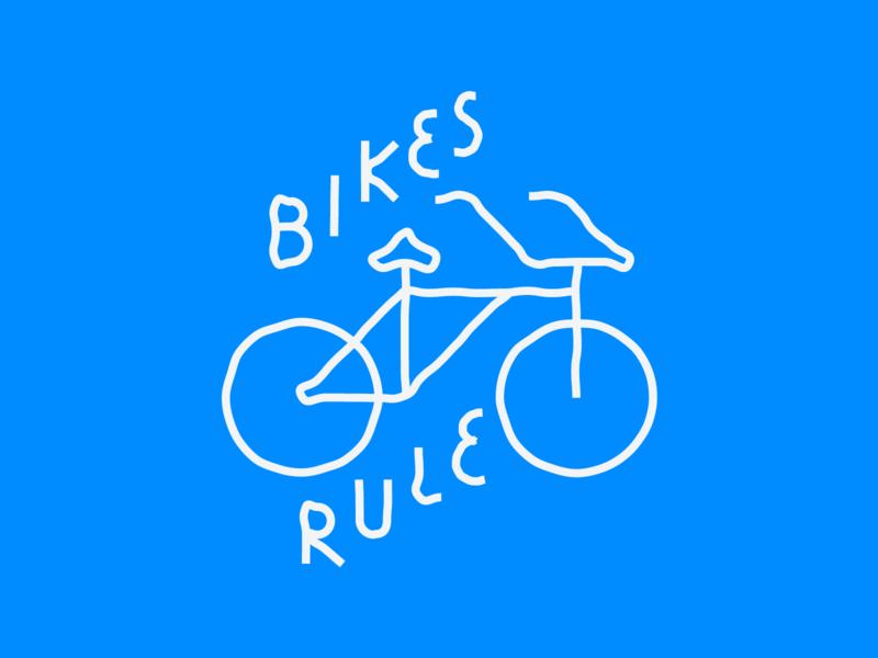 Bikes Rule bikes bike icon linework illustrations letsride ride rules illustration