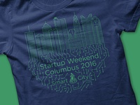 Startup Weekend Columbus 2016 Shirt Design