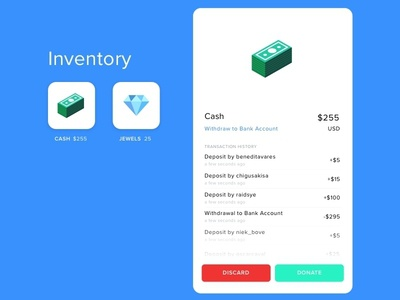 Social Network Inventory Gamification