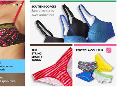 intimates color picker webdesign fashion