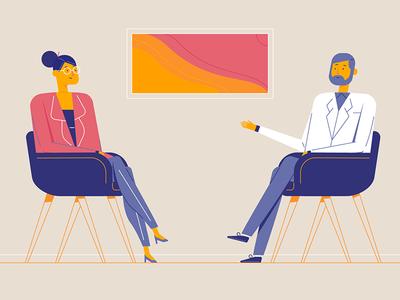 eCare flat illustration design motion illustrator health care