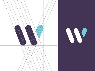 W Mark wordmark guide guidelines app logo minimalist trendy guides geometric modern w letter mark lettermark mark