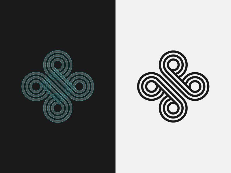 Logomark Guidelines diamond four startup celtic knot celtic symetric symetry smart tech logodesign minimalist geometric octopus drone abstract shape guides marks guidelines round logo logomark