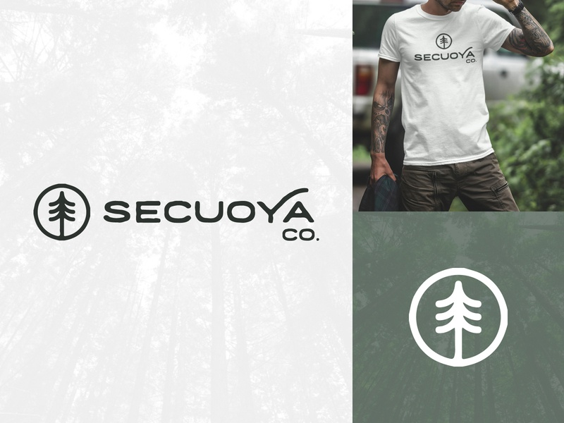 Secuoya Co. Logo adventure travel nomadic nomad wanderer wander branding edgy distressed icon brand apparel logo hike outdoorsy forest tree hiking outdoor sequoia