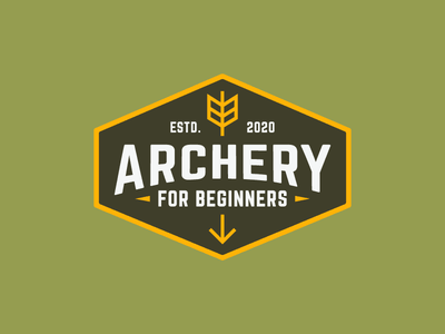 ARCHERY FOR BEGINNERS outdoors outdoor bow archery retro vintage badge hipster geometric minimal minimalist logo