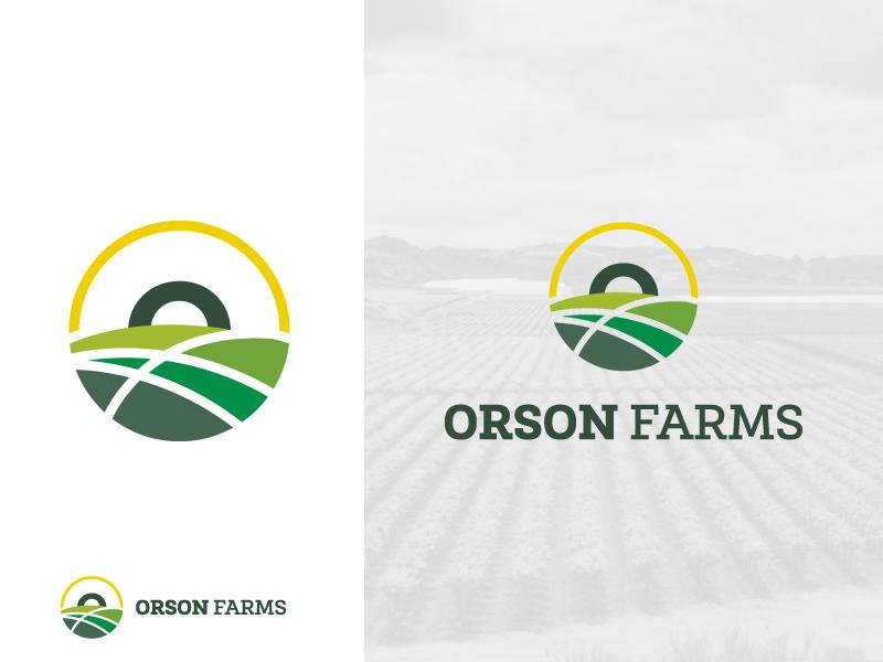 Orson Farms Logo yield crop field fields minimalist slab serif circle round sun letter o agro ranch horizon sunset badge agricultural agriculture logo farm farms