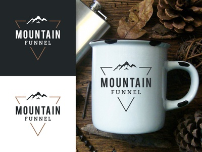 Mountain Funnel mug funnel wilderness outdoor geometric distressed triangle mountain vintage retro badge hipster logo