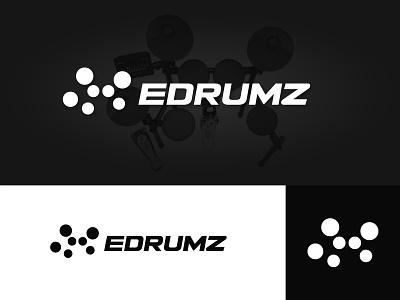 Electronic Drum Set Logo brand branding logo minimalist minimal sci-fi future futuristic industry dj pads pad tech music electronic drummer drums