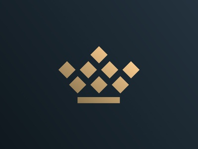Crown Icon tiara emperor monarch squares geometric luxurious royal keter brand iconic modern minimalist minimal luxury queen king gold favicon icon crown