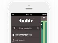 Foddr iOS