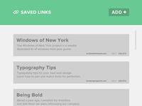 Saved Links