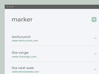 Marker Bookmark Widget ui ux user interface widget bookmark app favorites