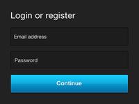 Updated: Login or Register PSD Freebie