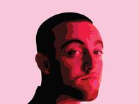 Mac Miller Vector Portrait