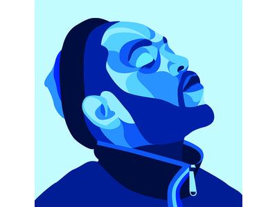 Kung Fu Kenny by Matt Hodin illustration rap music artwork vector portrait vector brand graphic design design matt hodin design matt hodin