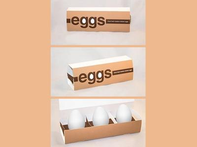 3-Egg Packaging Design by Matt Hodin packaging design packaging type typography logo brand graphic design illustration design matt hodin design matt hodin