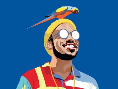 Anderson.Paak Vector Portrait YES LAWD!!!!! portrait vector digital art matt hodin design graphicdesign design  front-end  back-end music art hip hop hiphop rap music design music design paak anderson.paak anderson