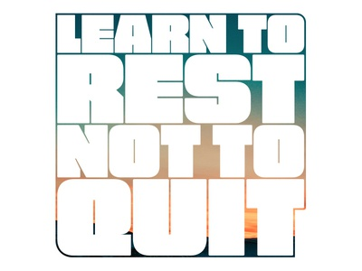 Learn To Rest, Not to Quit digital art music website flat ux web icon branding vector typography type brand logo illustration graphic design design matt hodin design matt hodin