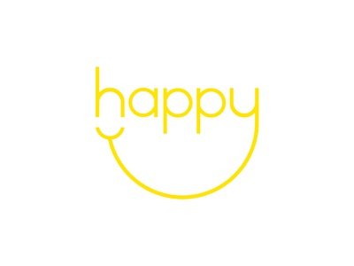 Happy – Expressive Typography Mark matt hodin design matt hodin digital art branding vector typography type brand logo illustration graphic design design