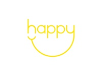 Happy – Expressive Typography Mark