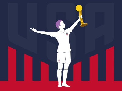 US Women's National Soccer Team – World Cup Champions futbol worldcup fifaworldcup fifa usa megan rapinoe soccer uswnt