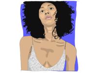 Disco ✨ art sketch portrait sparkles woman girl digital illustration design