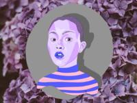 Day Glo 💜 portrait girl art woman digital color design illustration