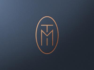 TM Interiors, Final Identity badge monogram branding logotype logos logo design interior design