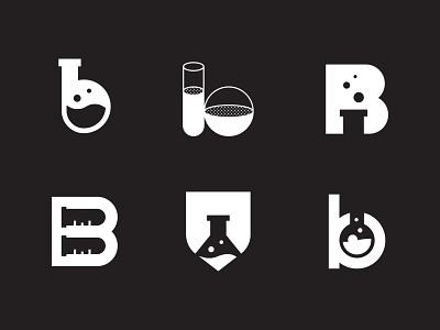 Bryan Labs, I branding logo design logo beaker test tube laboratory science lab