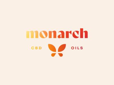 Monarch CBD Oils, I cbd logo hemp packaging branding flat logo design logo butterfly cbd oil oil cbd