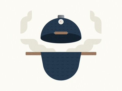 The Smoker logo design branding meat food bbq smoke geometric flat illustration smoker grill grill smoker