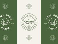 Goal Post Farm, III branding typography geometric leaf tree logo nature logo green minimal logo design seal type badge circle badge circle logo logo badges badge