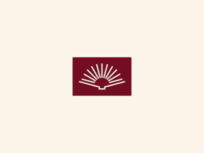 Oxford Area Tutoring Program, I learn education learning tutor branding mark logo badge positive hope sun rays sunrise open book book