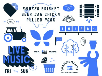 The 2020 Collection mark badge typogaphy collection branding style sheet illustration logos