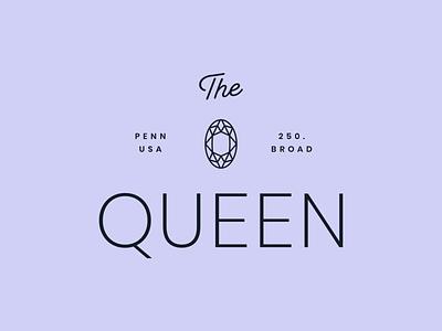 The Queen - 30 Days of Logos logo design branding logo script queen purple typography jewelry jewel diamond