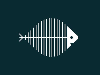 Smelly Cat - 30 Days of Logos cat cat food geometric logo mark branding logo happy bones skeleton fish