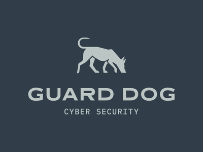 Guard Dog - 30 Days of Logos minimal flat branding logo design logo dogs cyber security sniff dog guard dog